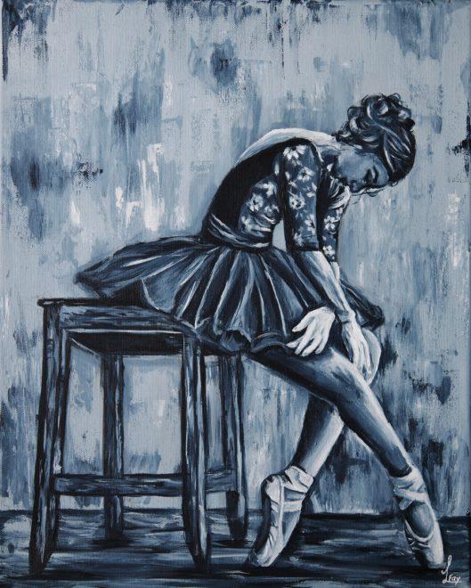 Ballerina in black & white